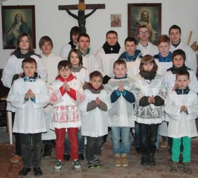 Grupa ministrantów - Wielki Czwartek, 28 marca 2013 r.
